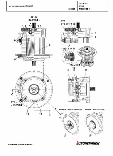 Catálogo de peças e manual de instruções empilhadeiras