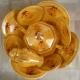 Ibá Médio Amarelo Sopeira Oitavada Perolizado com Oxum e filete Ouro
