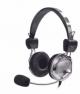 Headset Johnystar Dex Js-510mv Preto e Prata