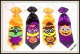 Gravata especial média favorita de halloween(10unidades)