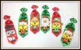 Gravata especial média em cetim favorita de Natal(12unidades)