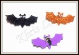 Laço aplique de eva gliterado Morcego(24unidades)