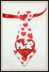 Gravata M de eva coração de Mãe(20unidades)