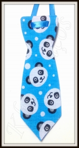 Gravata pet G estampada Panda(12unidades)