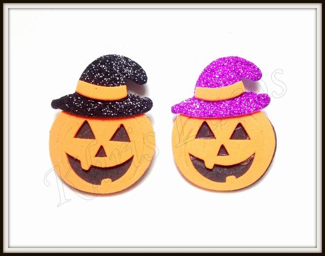 Abóbora de halloween para topete(12unidades)