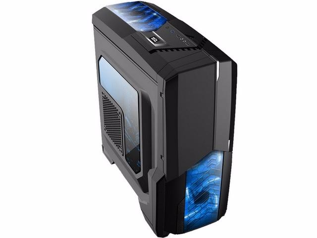 Gabinete Gamer Mymax Com Usb 3.0 Centauro Preto com LED Azul