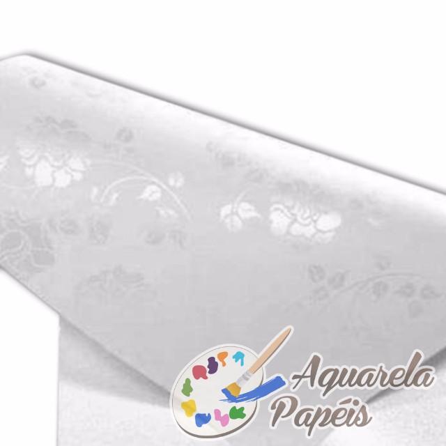 Papel Perolado Pétala Branca - 10 folhas - A4