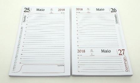 Miolo Agenda Refilado 2018 + Luva Plástica + Capa Paraná