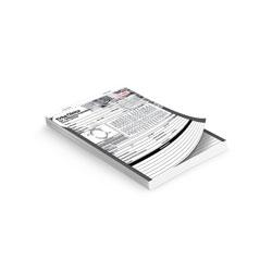 100 unidades - 7x10 cm em Sulfite 56g - 1x0 - Sem Verniz - Numeração - Blocagem 100x1 Via