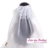 Coleção Noivas ESPECIAL : Vestido De Noiva HELLO KITTY Para Barbie + Véu + Luvas + Par De Sapatos