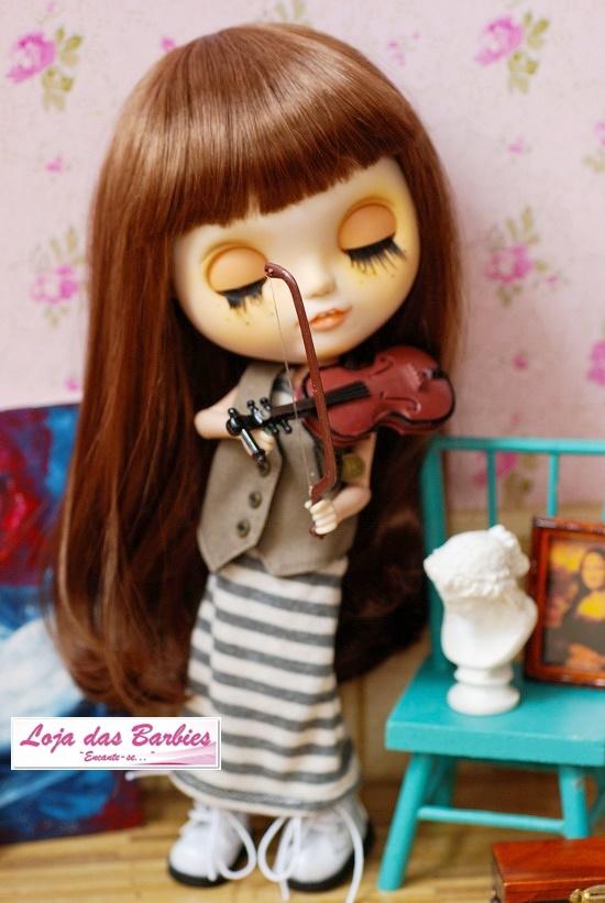 Violino De Luxo Para Boneca Blythe !