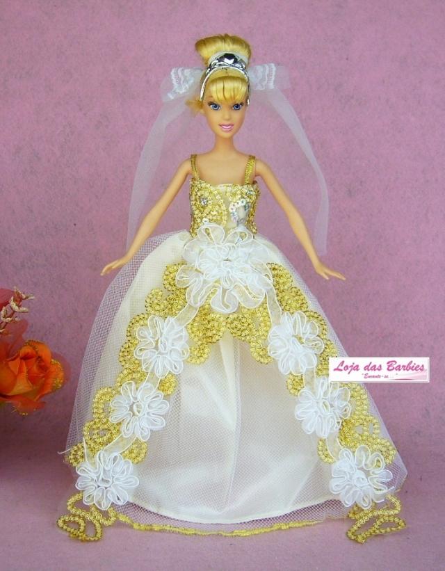 Coleção PRINCESAS DISNEY : Vestido Cinderela Noiva + Par De Sapatinhos + Coroa + Véu + Luvas #07V