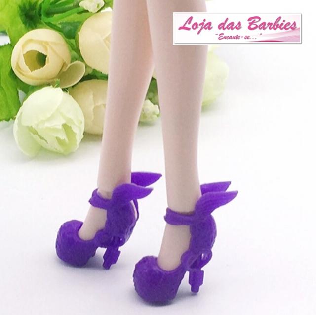 Sapatinho De Luxo Para Barbie : *Crepúsculo* (Roxo)