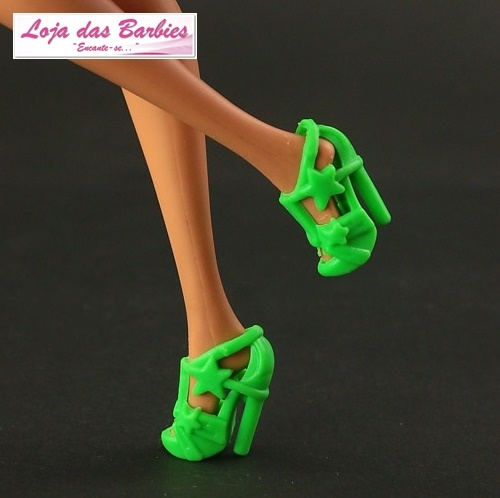 Sapatinho De Luxo Para Barbie : *Star* (Verde Folha)