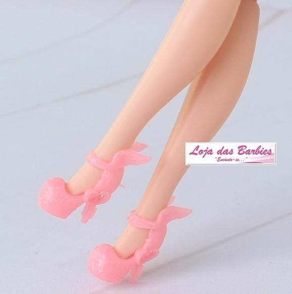 Sapatinho De Luxo Para Barbie : *Crepúsculo* (Rosa Cintilante)