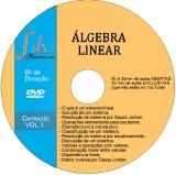 Dvd Álgebra Linear -VOL.1 com 30min de aulas exclusivas e 5h30min de  aulas abertas