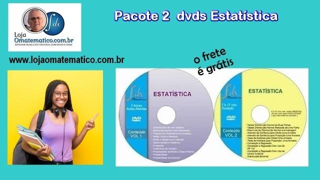 PACOTE 2 dvds Estatística com aulas exclusivas e abertas(c/10% desconto)envio:Tabelas Normal,Student