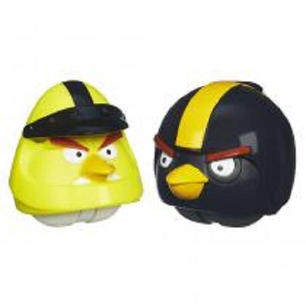 2 Figuras Angry Birds Go! - Pássaro Amarelo e Pret