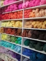 Lã penteada corriedale grossa - 25 gramas