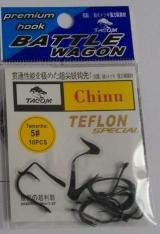 Anzol Tacom chinu no. 05 revestido com teflon cartela c/10 pçs.