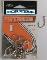 Anzol Potenza 12147 Nickel no. 01 cartela c/20 peças