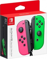 Nintendo Joycons L + R Neon Green and Pink