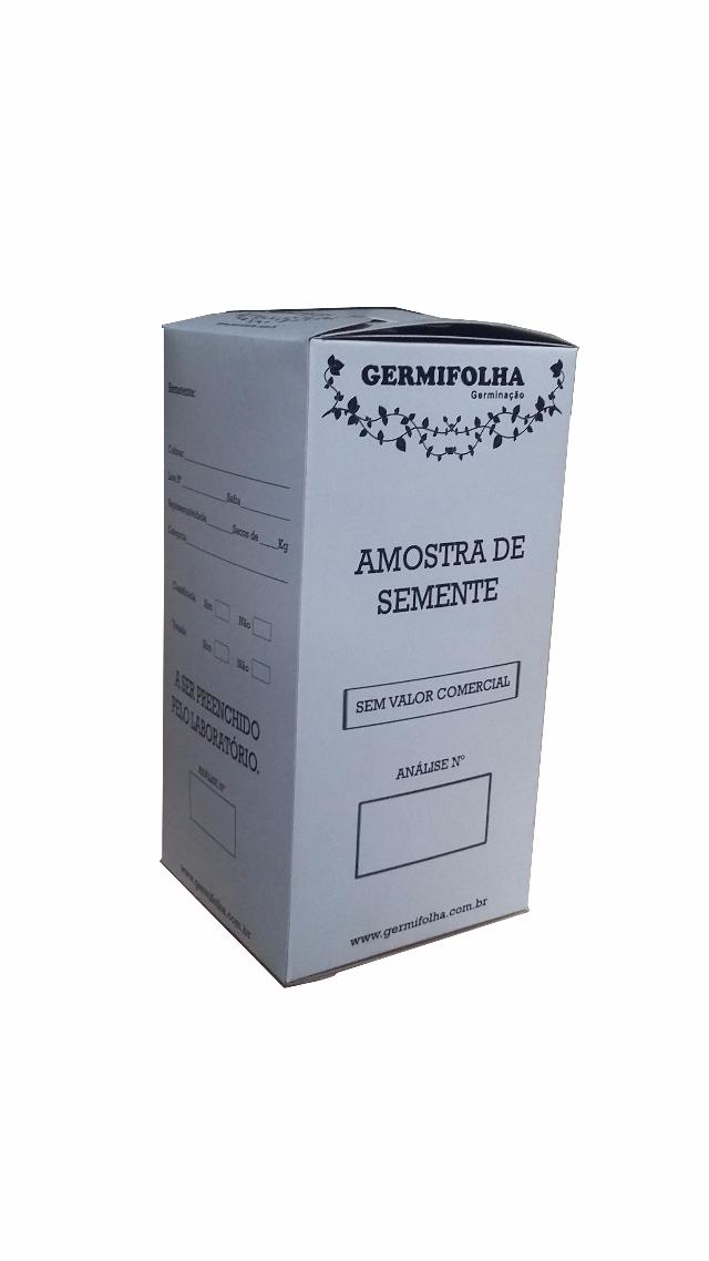 CAIXA PARA AMOSTRA DE SEMENTES CAP. ATE 1000GR C/ 10peças