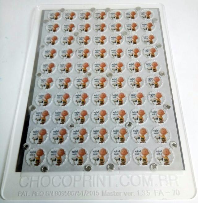 Forma Alpino 2,6 x 2,6 cm de 3  mm de espessura 70 unidades
