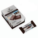 CHOCOLATE AMARGO SALWARE 450g - CAIXA COM 15 TABLETES - 54% CACAU - ZERO ACÚCAR - ZERO LACTOSE