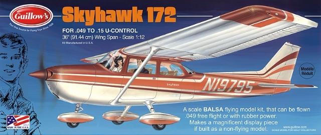 Cessna Skyhawk 172 1:12 # 802 - GUILLOW'S