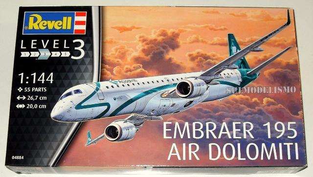 Embraer 195 Air Dolomiti 1:144 # 04884 - REVELL