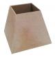 Cúpula mdf lisa reta - cod:BEB014-16 - Tamanho 20x19x18,5cm