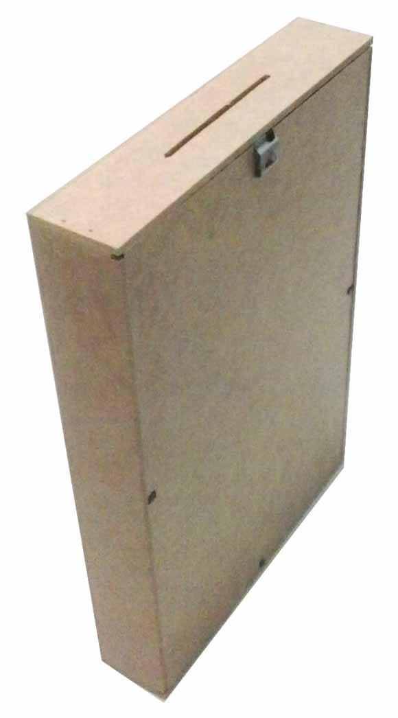 Quadro Cofre mdf COD: Cx007-12 Tam: 23L X 4,5C X 30A CM