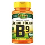 Vitamina B9 Ácido Fólico - 60 Cápsulas 500mg