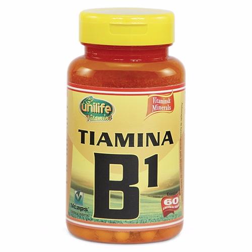 Vitamina B1 Tiamina - 60 Cápsulas - 500 mg