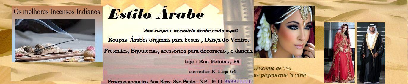 Estilo Árabe-Roupas e presentes árabes originais