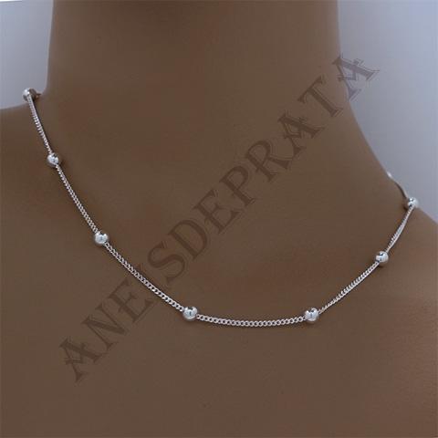 corrente em prata