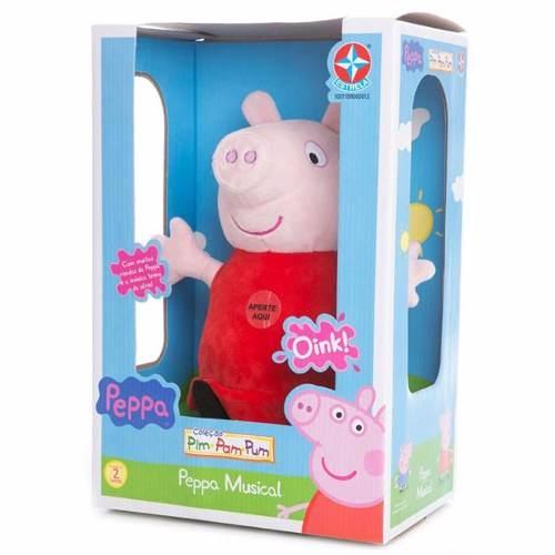 Boneca Peppa Pig Pelúcia Musical - Estrela