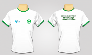 Camiseta SIPAT/CIPA - Malha Fria Branca (PRODUTO TEMPORARIAMENTE INDISPONÍVEL)