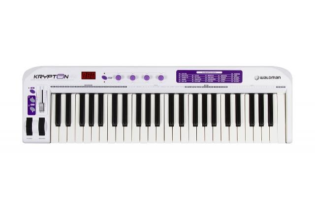 Teclado Master Controlador USB/MIDI Ultra Profissional com 49 Teclas Sensitivas Krypton49 Waldman